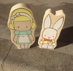 A personal favorite from my Etsy shop https://www.etsy.com/listing/489787657/alice-and-the-rabbit