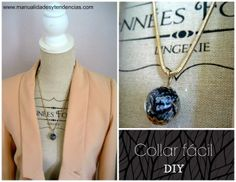 Tutorial de collar blanco y negro / Black and white necklace / Collier noir et blanc www.manualidadesytendencias.com #manualidades #bisutería