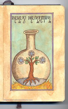 Alchemy Notebook: Tree of Stars by Ninth Wave Designs
