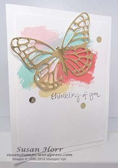 Butterfly Basics, Work of Art, Stampin Up, susanstamps.wordpress.com