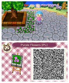 Purple Flower Planter by Quirkberry -  Animal Crossing: New Leaf