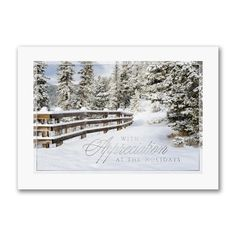 Snowy Appreciation Business Christmas Cards, Holiday Cards, Personalised Christmas Cards, Renewable Sources Of Energy, Types Of Printing, Letterpress, Appreciation, Recycling, Greeting Cards