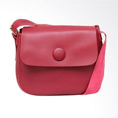 Vivaci Import Button Tas Selempang Wanita - Red f5947d6e02