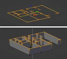Free Blender Tutorial Create A Floor Plan From An Architectural Schematic - Free Blender Tutorial Create A Floor Plan From An Architectural Schematic - Blender 3d, Blender Models, Blender Soup, Blender Salsa, Blender Bottle, Blender Architecture, Architecture Portfolio, 3d Design, Game Design