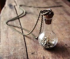 Fairy Dust in a Bottle Necklace Miniature Jar on by RustyKeys, $18.00
