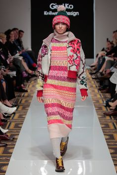Collection by Gisel Ko, BFA Knitwear Design, at Academy of Art University School of Fashion May 2015 Graduation Fashion Show. Photo by Getty Images.
