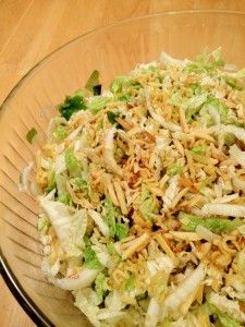 Chinese Nappa Cabbage Salad with a Crunchy Noodle and Nut Topping - The Dinner-Mom