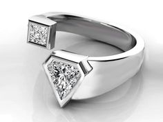 Trillion Diamond Engagement ring