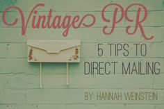 << 5 Tips to Direct Mailing! >>