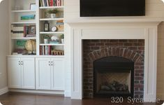 fireplace and built-ins   320 * Sycamore