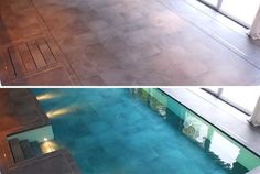 Hydrofloors - Swimming pool that can be hidden beneath a floor. The entire floor drops down and allows water to flow on top of it. Allows for the pool depth to adjusted; create a shallow pool for kids or a deeper one for swimming laps. See it in action here http://www.youtube.com/watch?v=3W861CQ4I4U=player_embedded