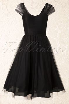 Unique Vintage - 50s Garden State Dress in Black