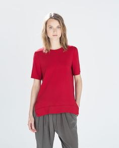 ASYMMETRICAL TOP WITH SIDE SLITS from Zara