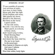 ~ Edgar Allan Poe ~ Evening Star