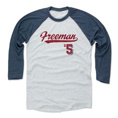 Freddie Freeman Script R Atlanta Officially Licensed MLBPA Baseball T-Shirt Unisex S-3XL