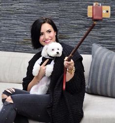 Demi with Buddy March 2015
