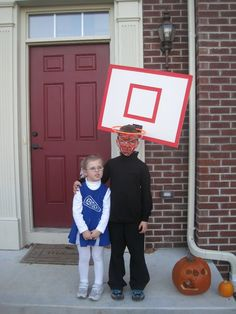 DIY basketball goal costume  sc 1 st  Pinterest & Coolest 1000+ Homemade Costumes You Can Make! | Coolest Homemade ...