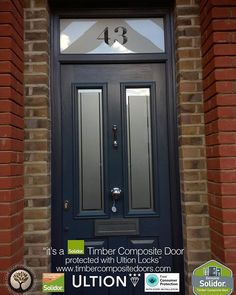 Anthracite Grey Ludlow 2 with etched Top Box Solidor Timber Composite Door Grey Composite Front Door, Grey Front Doors, Exterior Front Doors, Front Door Colors, Front Door Decor, Entry Doors, Solidor Door, Traditional Front Doors, External Doors