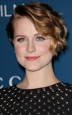 Evan Rachel Wood-Short Curly Haircut Celebrity Style