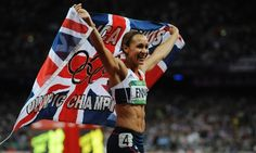 Our photographer Tom Jenkins was also at the track last night capturing all the triumphs of Team GB. Jessica Ennis as she won gold for Britain in the women's heptathlon