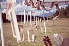 hanging vintage frames