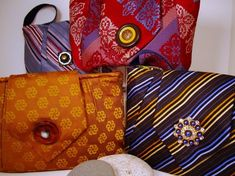 what to do with my recent vintage tie purchases?   #tie #purse