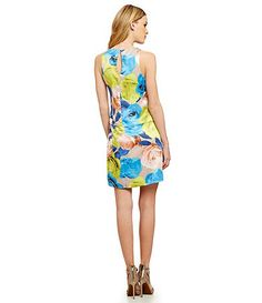 Jessica Simpson Tiered Floral-Print Swing Dress