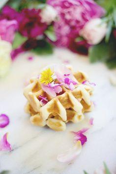Edible Flower Waffle