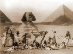 Dancing at the pyramids 1926