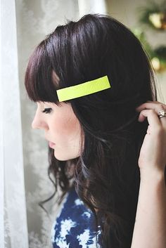These stark leather barrettes look store-bought. | The 52 Easiest And Quickest DIY Projects Of All Time