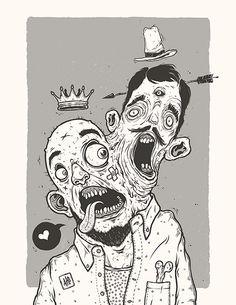 ATEFAKT is an selfpublished illustration zine by esze & sidas. Dark Art Drawings, Cool Drawings, Dark Art Illustrations, Illustration Art, Arte Lowbrow, Horror Drawing, Satanic Art, Garage Art, Arte Horror