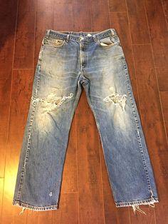 Levis zip fly denim jeans Waist W 38 Regular fit straight leg levis b989fda7fa
