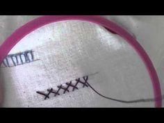 Deerfield Herringbone Stitch - YouTube