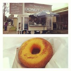 Soft fluffy donuts with a crispy, sweet cinnamon outside @ The Famous Berry Donut Van.
