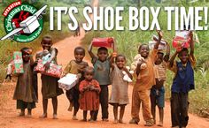 Operation Christmas Child shoebox COLLECTION WEEK is November 17 through 24th (2014). Pack a box today and find a local collection center to send a gift to a child in need this holiday season!