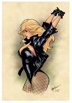 Black Canary 2017 (color) by johncastelhano