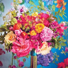 Bright Bouquets for Every Type of Bride | Martha Stewart Weddings - Rose, Clematis, Peony, and Dill
