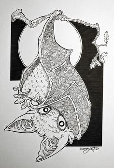 Fruit Bat by WendyMartin.deviantart.com on @deviantART