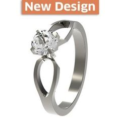 To Infinity solitaire Titanium Engagement Ring