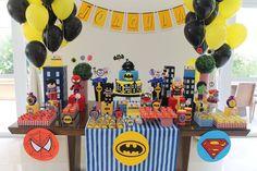 Festa Super Herois #papelcomdesign #papelariapersonalizada #festaspersonalizadas #festainfantil #festasuperherois #festamenino