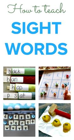 How to teach sight words :: sight word activities