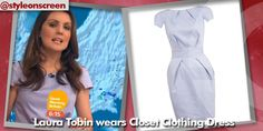 Want to know where Laura Tobin got her dress from on Good Morning Britain? Style on Screen can tell you! Good Morning Britain, Blue Dresses, Dress Outfits, Peplum Dress, How To Wear, Clothes, Style, Fashion, Outfits
