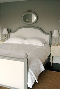 simple gray bedroom