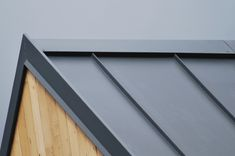 Colorcoat Roof / cladding - window and office roof Level 4 Home, Ebbw Vale images - Roof Cladding, House Cladding, Roof Trusses, Exterior Cladding, Zinc Roof, Metal Roof, Roof Truss Design, Standing Seam Roof, Roof Detail