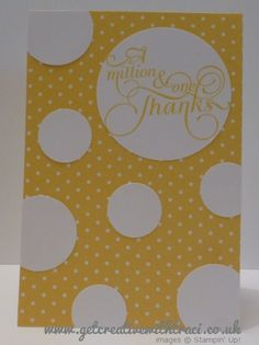 Stampin Up Circle Punch and Million & One Daffodil Delight Card by Independent Stampin Up Demonstrator Traci Cornelius www.getcreativewithtraci.co.uk