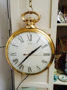 Old world wall clock  Pocket watch style $120
