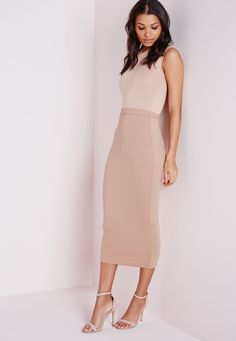 Картинки по запросу missguided skirt jersey longline midi