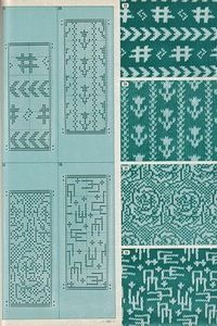 Mitja-jacquard color...  Pattern Library for Punch Card Knitters №1 1973