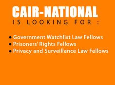 CAIR-National is looking for fellows. Learn more by clicking on the image.
