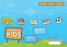 Amman Kids Website by DesHamodeh